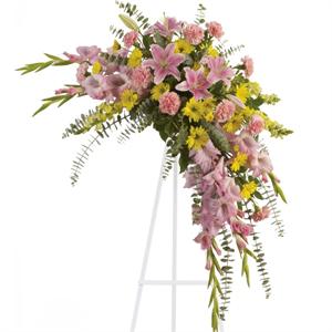 Sweet Solace Spray flower arrangement  Walker Funeral Home Cincinnati, OH www.herbwalker.com