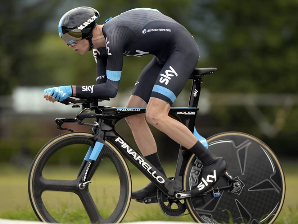 Froome Time Trial On A Pinarello Bolide Tt Cycling