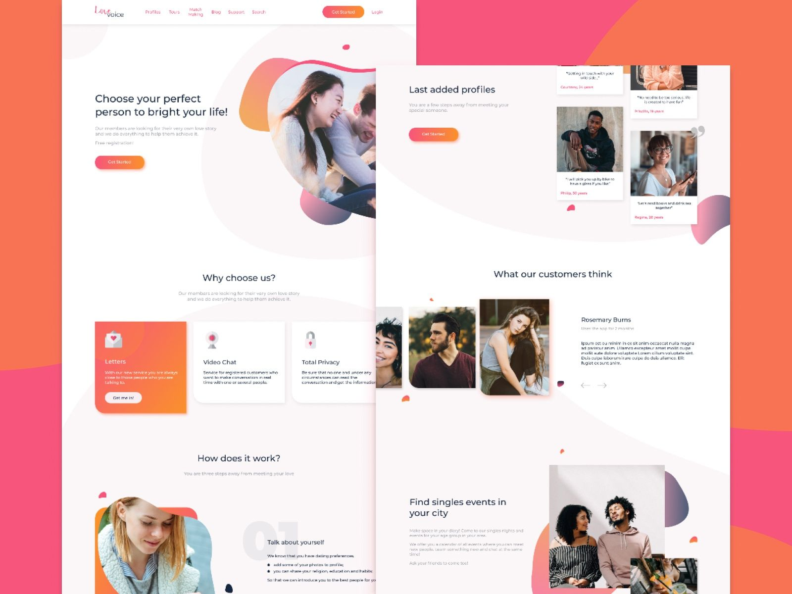 recently dating site designed