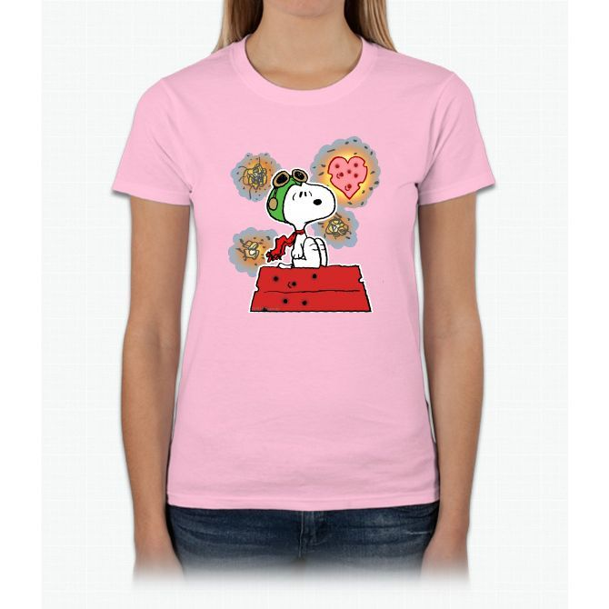 Ace Heart Tee Charlie Brown Ladies T-Shirt