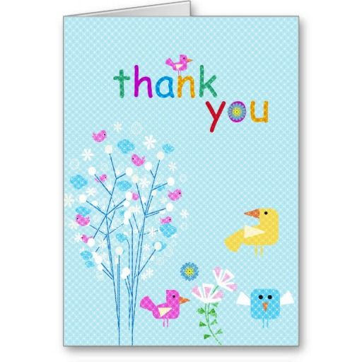 Thank You Card Templates For Kids  Card    Card Templates