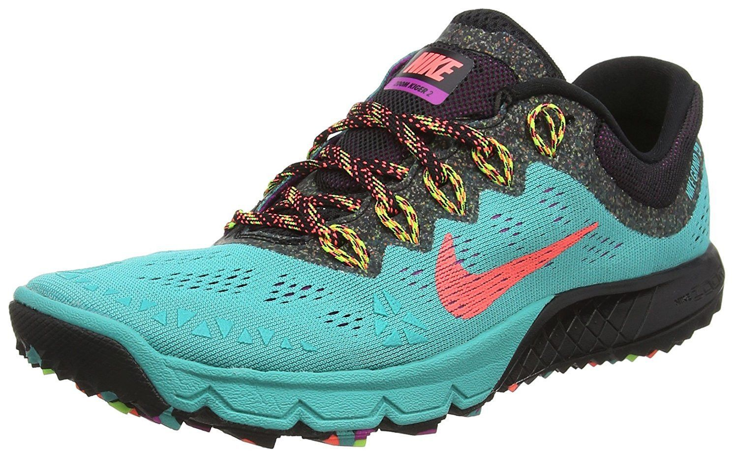 Nike Air Zoom Terra Kiger 2 Trail Running Shoes Womens Size 8 Retro Blue Lava Black Running Shoe Brands Womens Running Shoes Trail Running Shoes