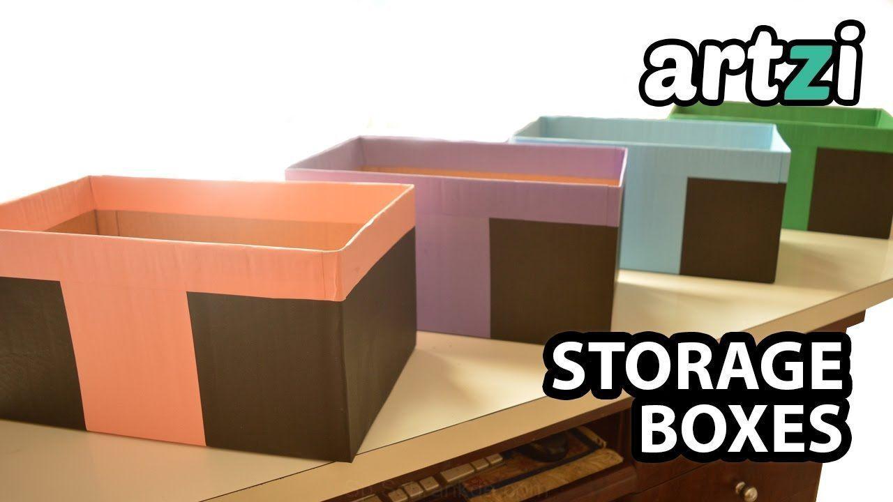 Fabricacion De Cajas De Almacenaje Con Cajas De Carton He