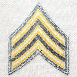 ミリタリーワッペン U.S.Army アーミー アメリカ陸軍軍曹階級章 ...