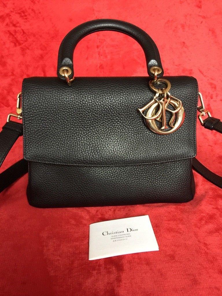 66cf214acb3 Christian Dior Small Be Dior Bag Black Leather Handbag   Dior in ...