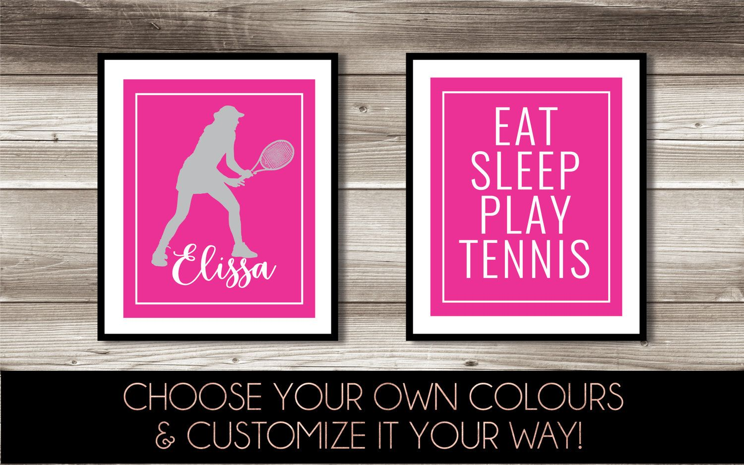 Tennis Wall Art, Girl's & Boy's Tennis Bedroom Decor
