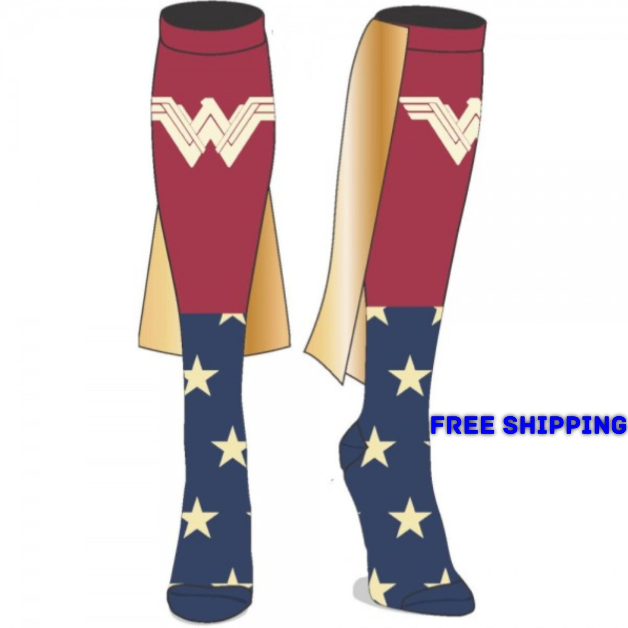 a17d7909c DC Comics Wonder Woman Movie Caped Knee High Socks NEW Licensed ...