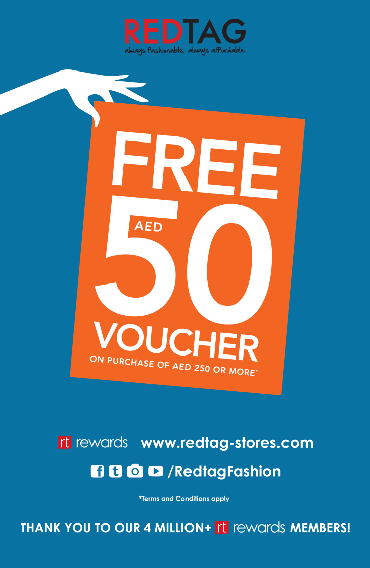 Redtag Is Treating You Our Gift Voucher Program Offers A Free 50dhs Voucher With A Purchase Of 250dhs With Our Beautiful W Free Vouchers How To Apply Voucher