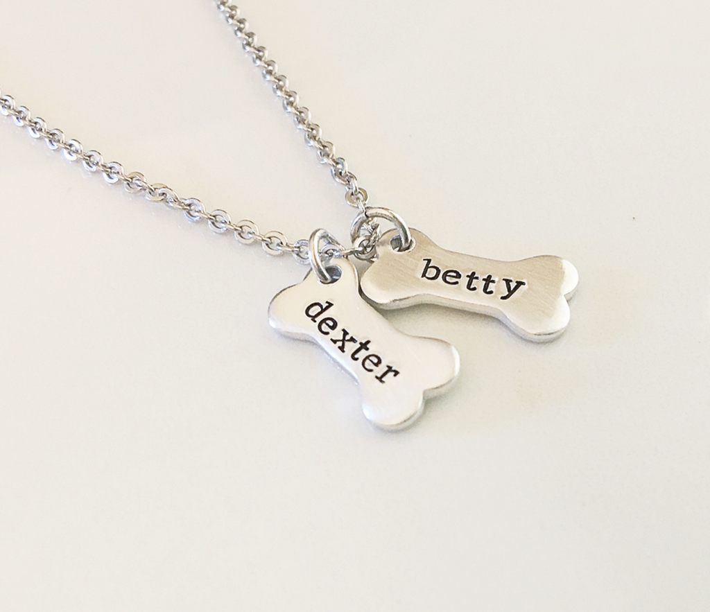 Personalized Dog Bone Name Necklace in 2019 | Gifts for Pet