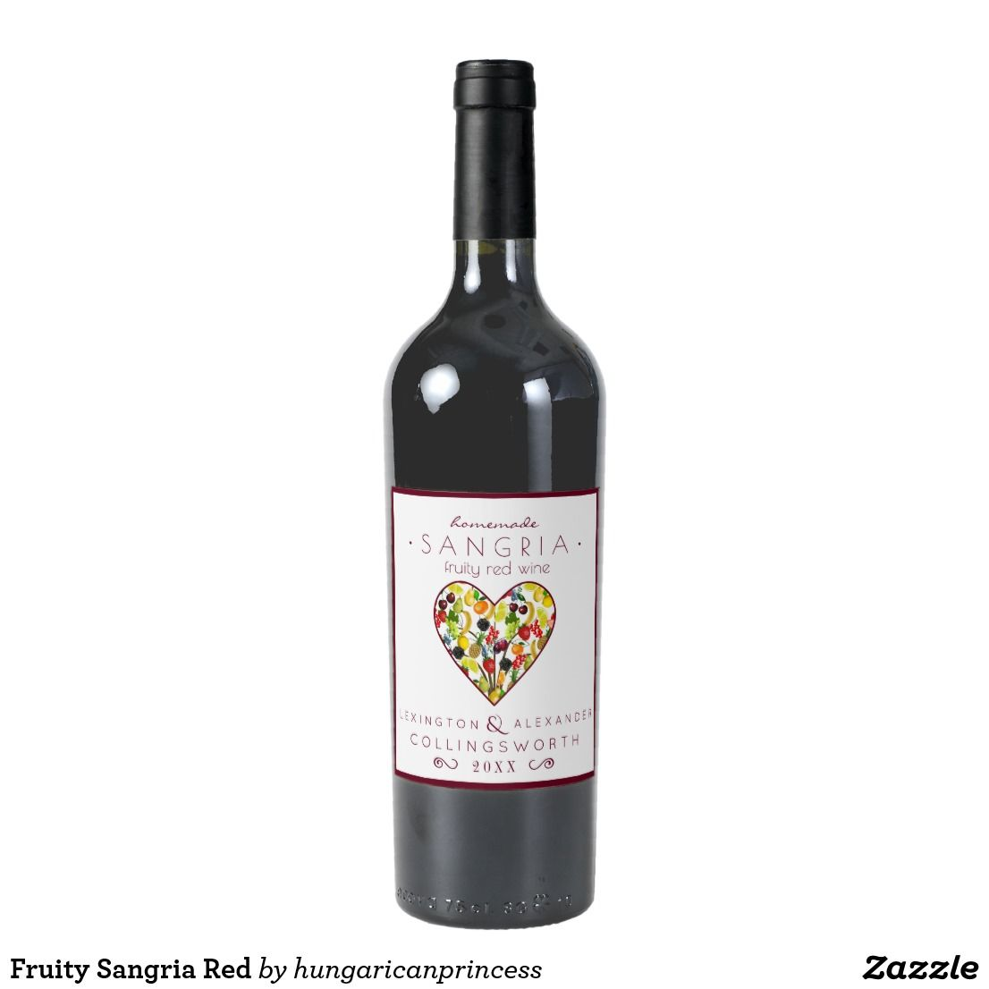 Fruity Sangria Red Wine Label | Wine, Red wines and Sangria