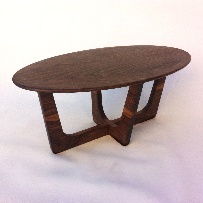 Mid Century Modern Oval Coffee Table 20x40 Adrian Pearsall Inspired Solid Walnut Cocktail Table Eames Era Surfboard Zhurnalnyj Stolik Stolyarnye Izdeliya Stol [ 1500 x 1500 Pixel ]