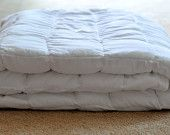 Beautiful custom cotton White or off white king weighted blanket