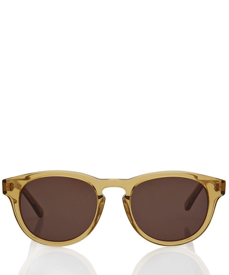 58e962f689fe Hans Kjobenhavn Yellow Timeless Acetate Sunglasses