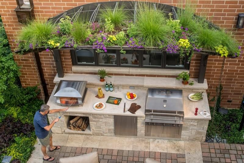 Outdoor Küche Steinmauer : Outdoor küchen freistehende kochinsel aus naturstein garten