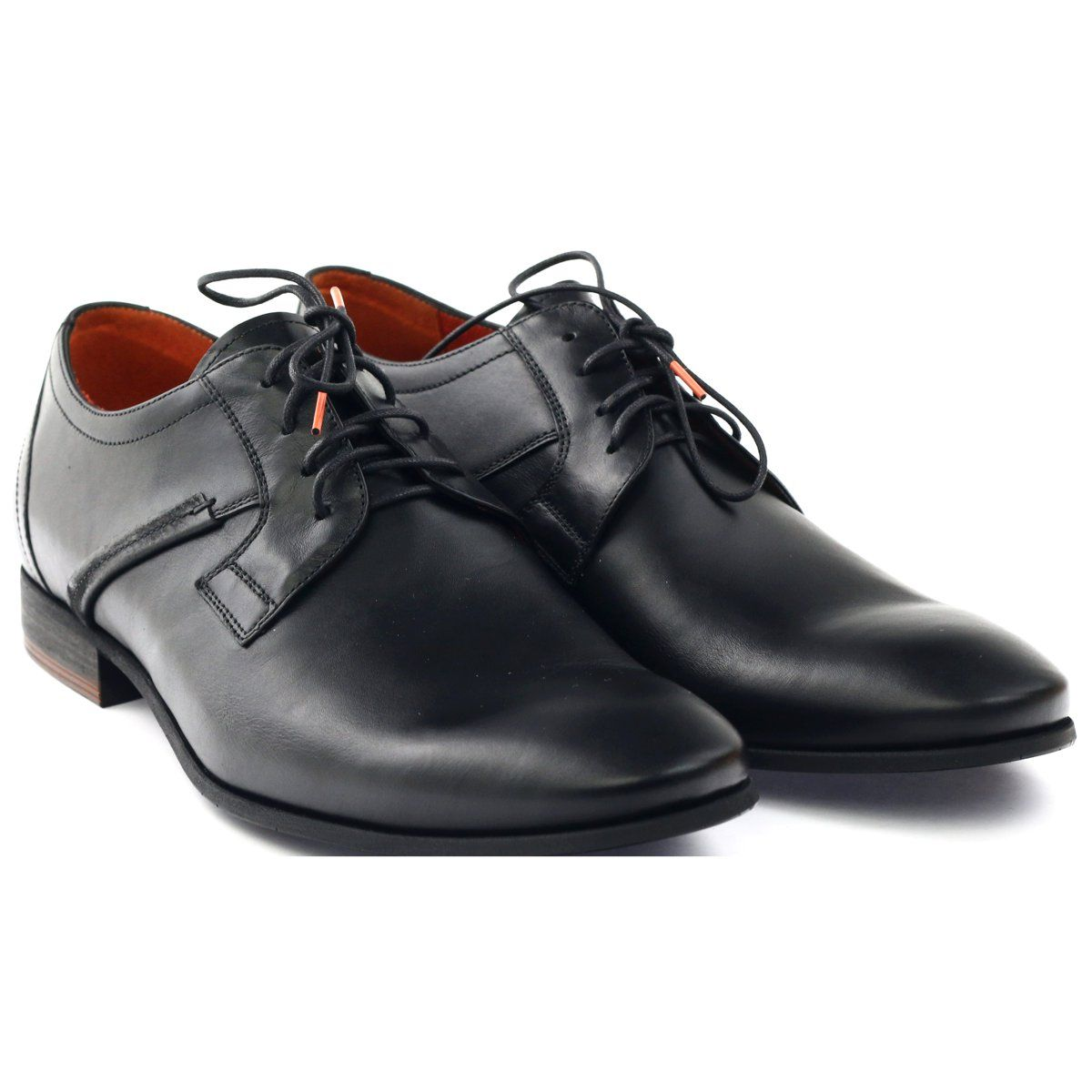 Polbuty Meskie Pilpol Pc007 Czarne Nowosc Dress Shoes Men Shoes Lace Up Shoes