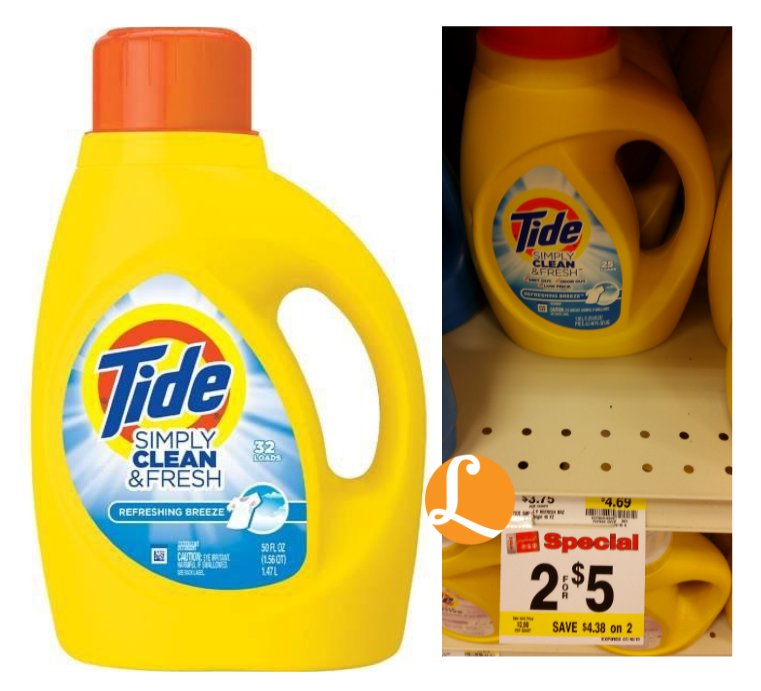picture relating to Tide Simply Clean Printable Coupons named Tide Easily Contemporary New Detergent as Minimal as $0.50 at Weis