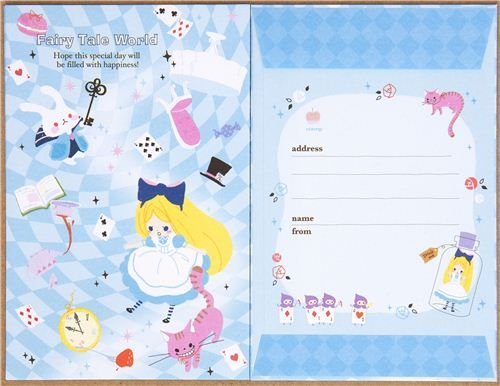 blue Fairy Tale World Letter Set with fairy tales Alice