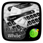 Free Download Black and White Keyboard Theme APK For android