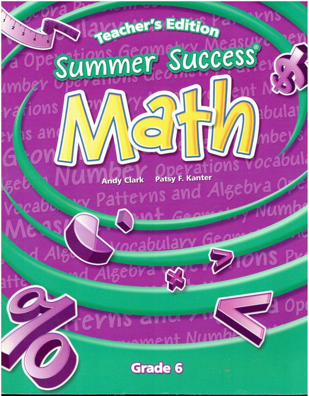 Workbooks 6 grade math workbook : Great Source Summer Success Math 6 set ©2008 6th grade workbooks ...