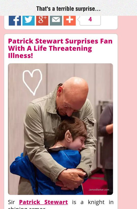 Good Job Patrick: Who Knew Patrick Stewart Was Such An Evil Person
