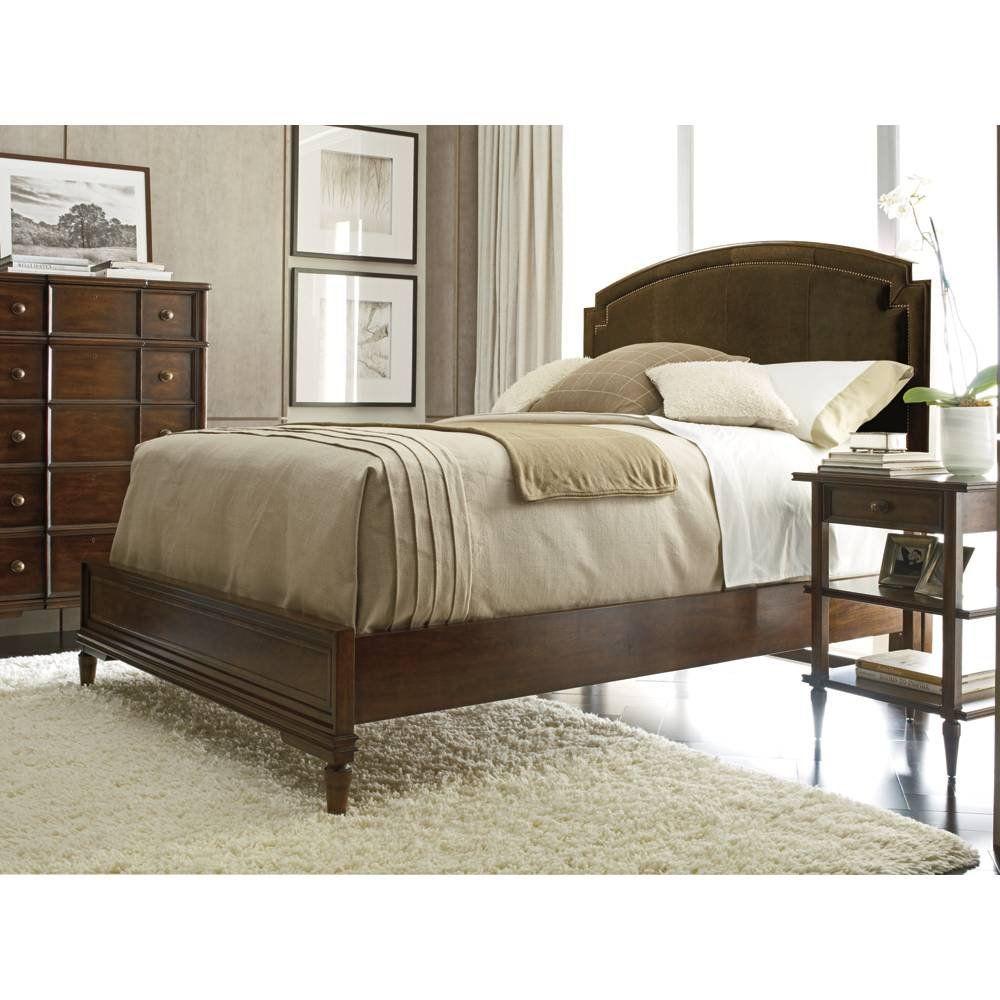 Stanley Furniture Vintage Collection Upholstered Panel Bed Set