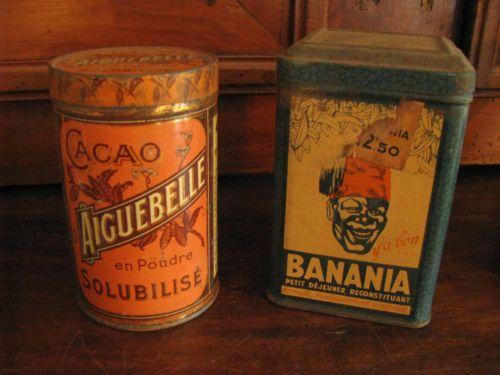 2 boites anciennes en m tal cacao aiguebelle banania ebay boites anciennes pinterest - Boite metal ancienne ...