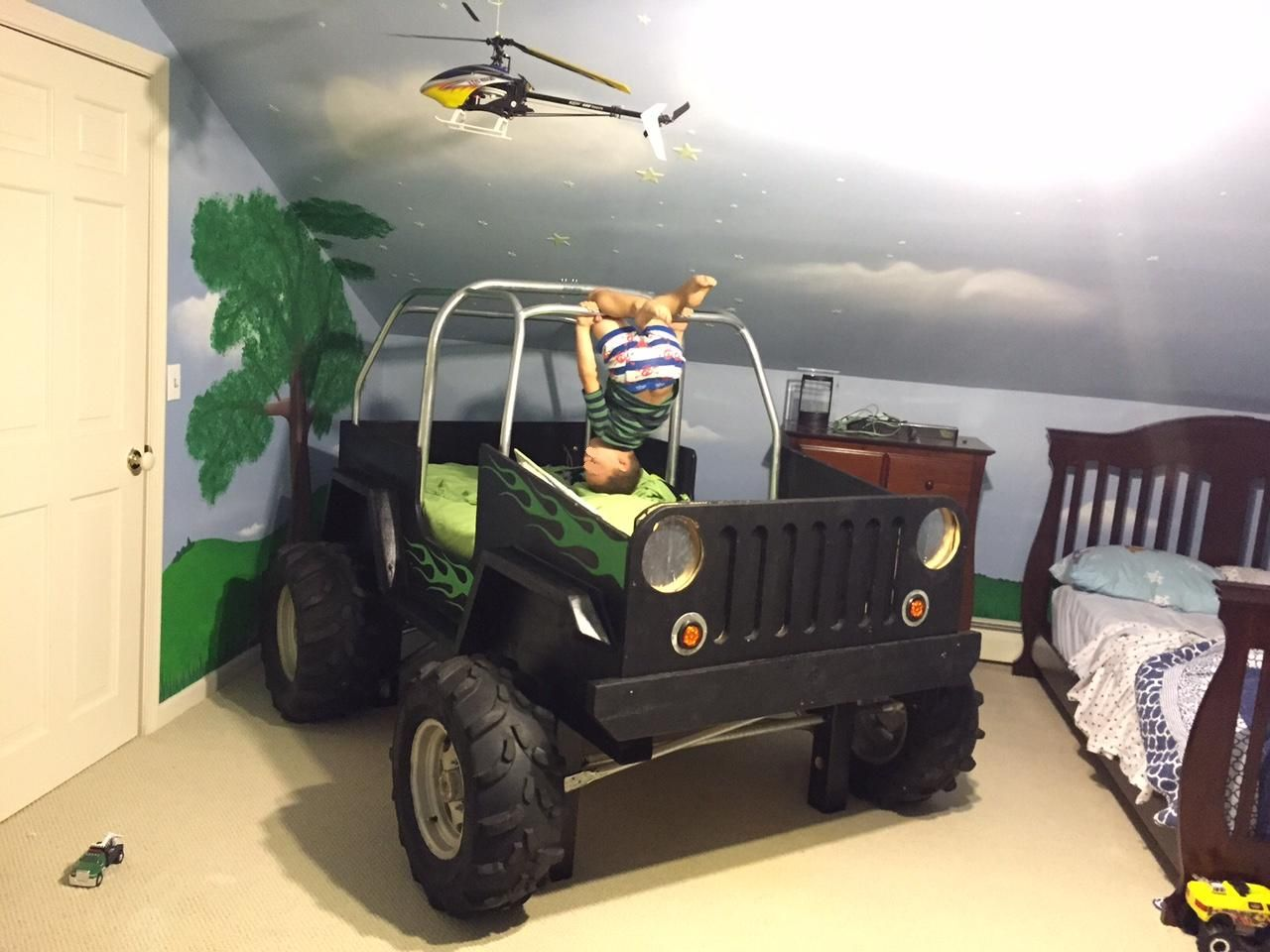 Baby jeep bed - Boys Jeep Bed Made From The Shipping Crate From A Customers Cnc Burntables Table