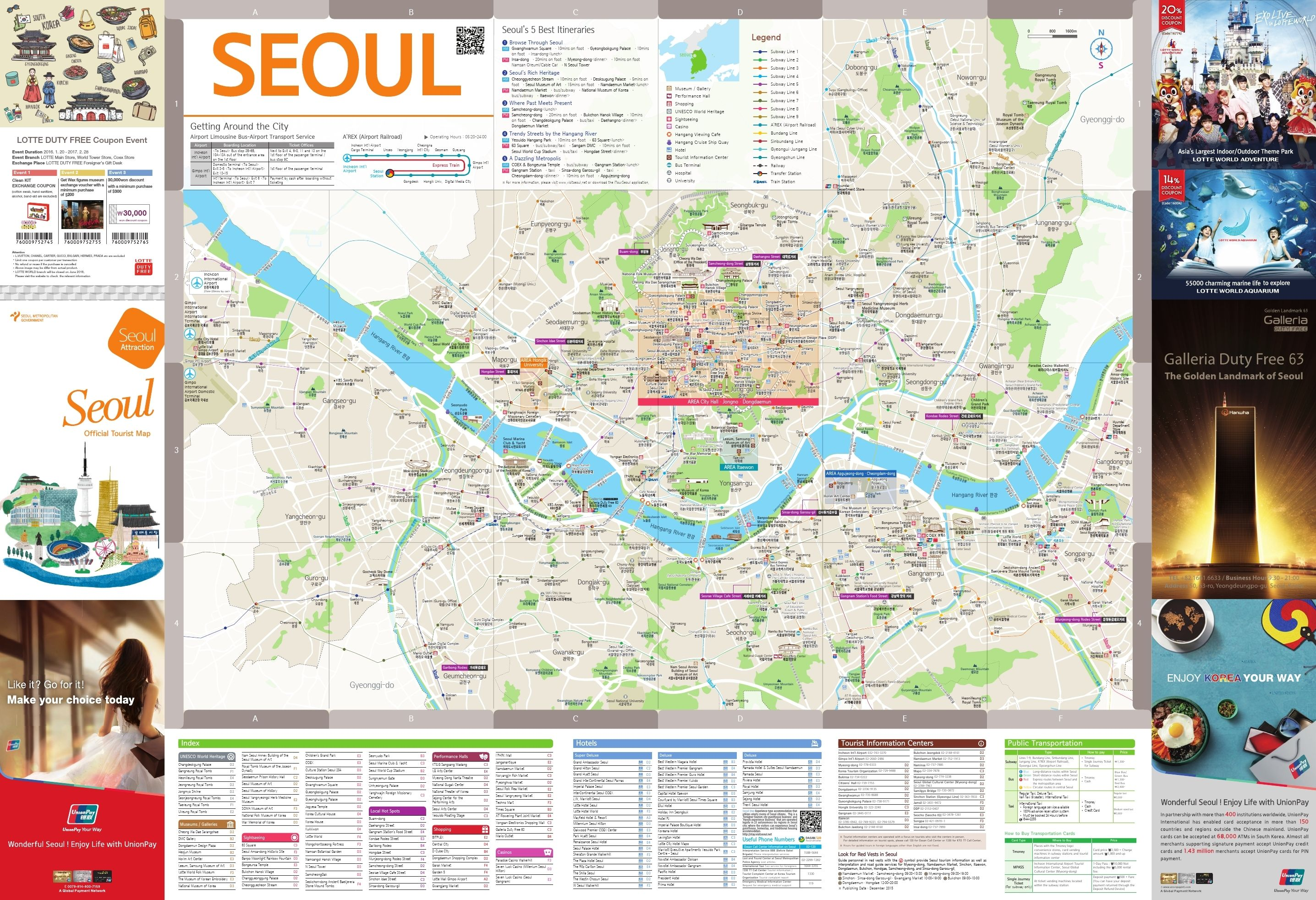 Travel Korea Tip Seoul Map English Seoul Korea and Nice travel