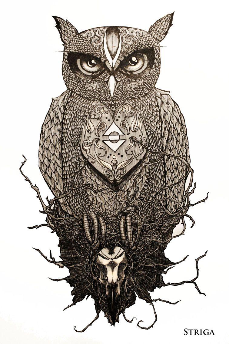 Owl Tattoo Designs The Owl Tattoo Design By Striga Art Designs Interfaces Tattoo Design Owl Tattoo Design Owl Tattoo Design Art Drawing