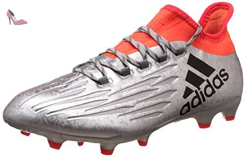 adidas X 16.2 FG, Chaussures de Foot Homme, Plateado (Plamet / Negbas /