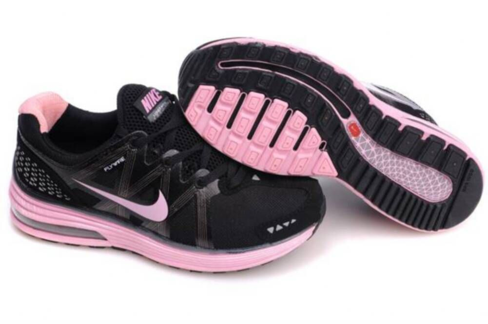 online store cc0cd 40cf1 Womens Nike LunarMax Black Pink Shoes
