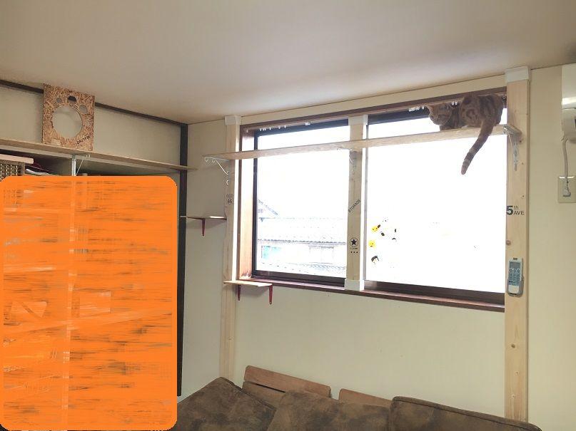 猫を室内で飼うための対策 キャットウォークをdiy 第二弾 キングギドラの日常 キャットウォーク ペットと暮らすインテリア キャット