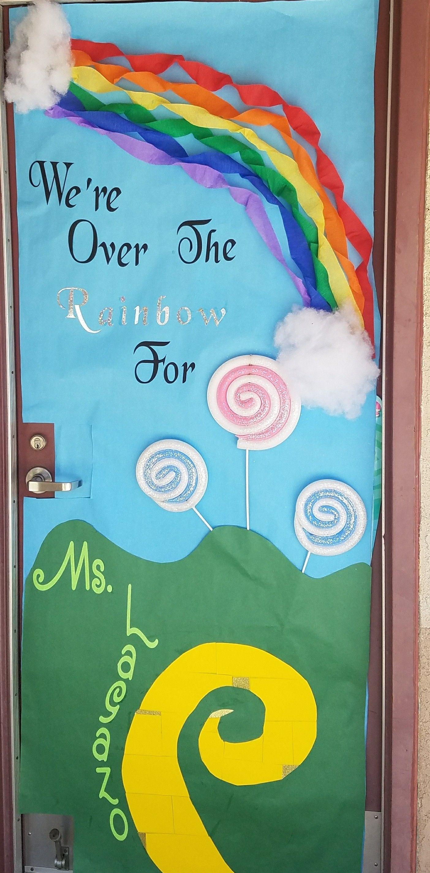 3d Teacher Appreciation Door We Re Over The Rainbow For
