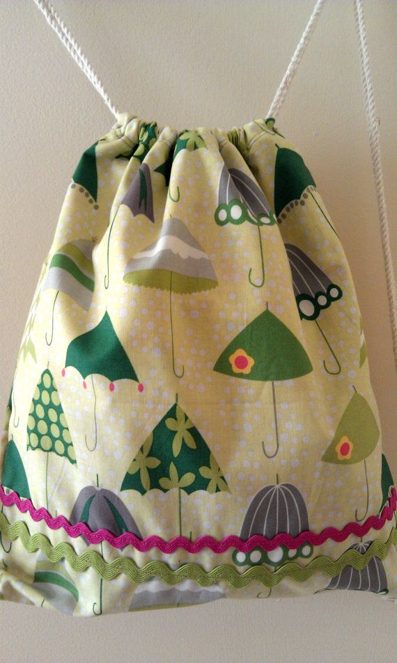Drawstring Backpack Christmas Holly Cupcake On Red Stripes Shoulder Bags