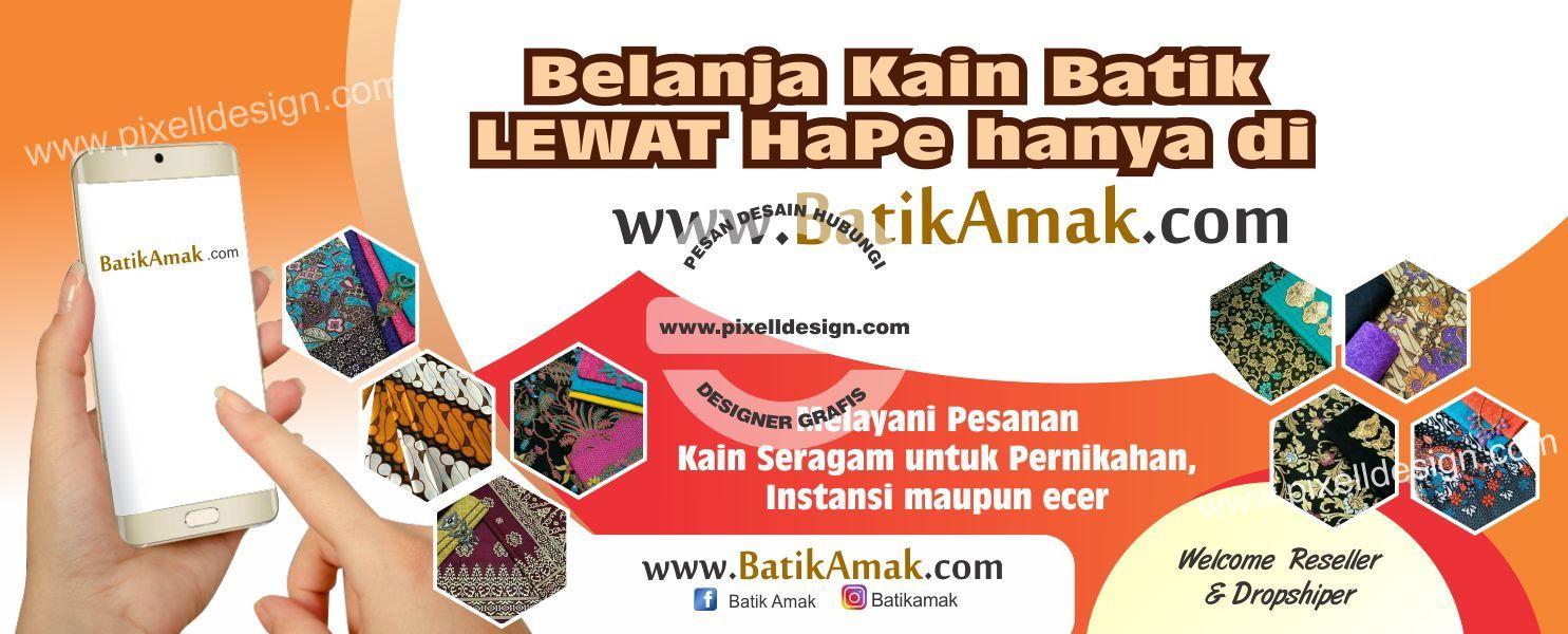 Contoh Banner Toko Pakaian - desain spanduk kreatif