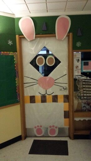 Classroom Decorations For April ~ Classroom door bunny rabbit too late for this year but