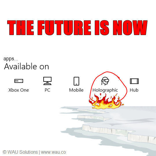 The Future Is Now vr app apps holographic Xbox one
