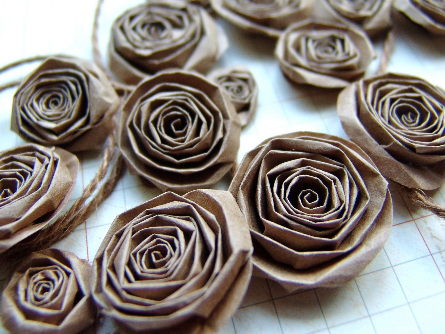 Upcycled recycled paper bag handmade paper flowers set of 15 kraft items similar to upcycled recycled paper bag handmade paper flowers set of 20 kraft paper roses on etsy mightylinksfo Choice Image