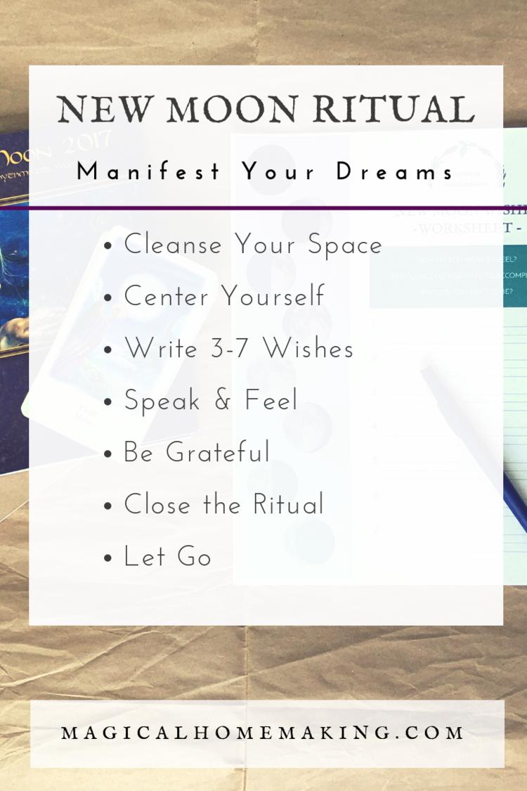 New Moon Ritual for Manifesting Your Dreams #newmoonritual