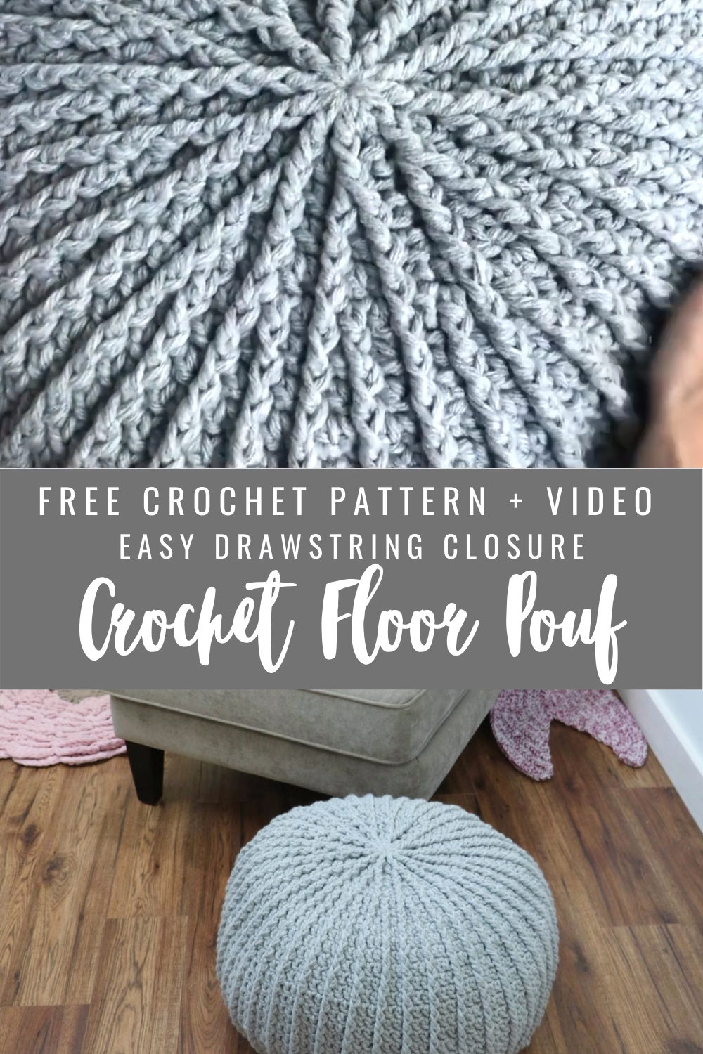Photo of Free Crochet Floor Pouf
