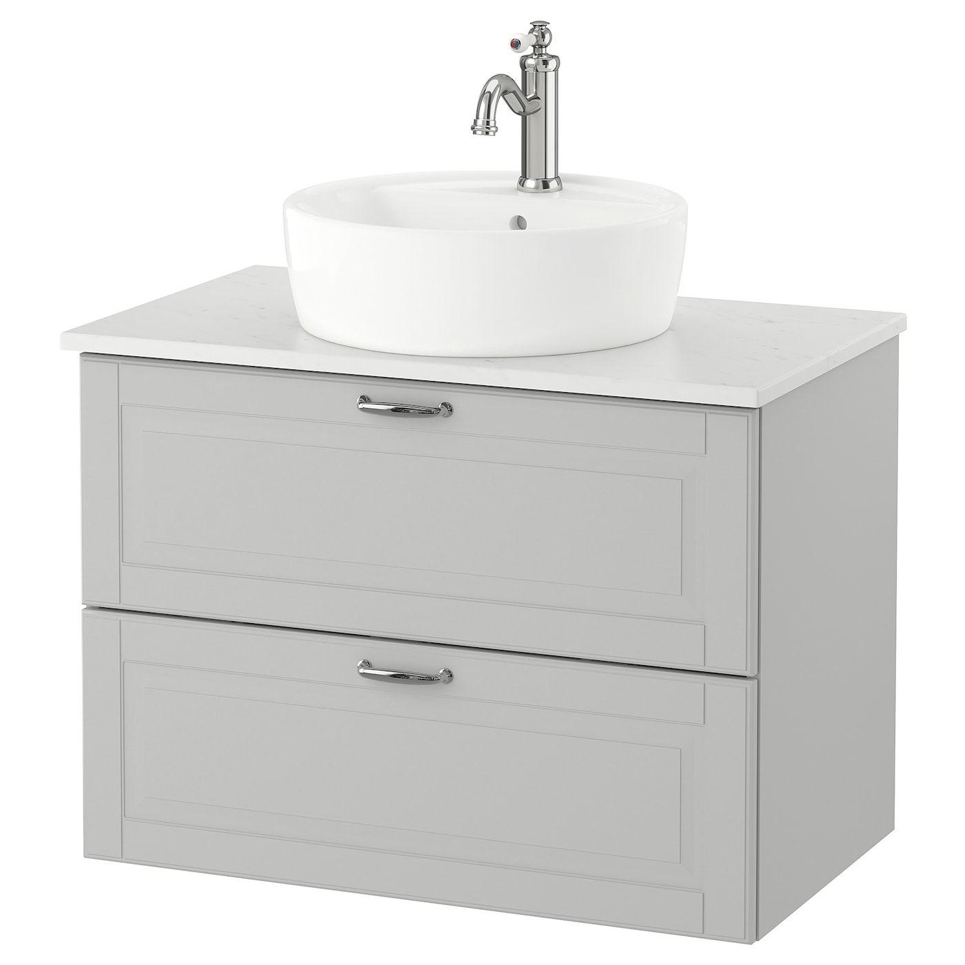 Godmorgon Tolken Tornviken Cabinet Countertop 19 5 8 Sink Kasjon Light Gray Marble Effect Hamnskar Faucet 32 1 4x19 1 4x29 1 8 Ikea In 2020 Ikea Godmorgon Bathroom Vanity Sink Cabinet