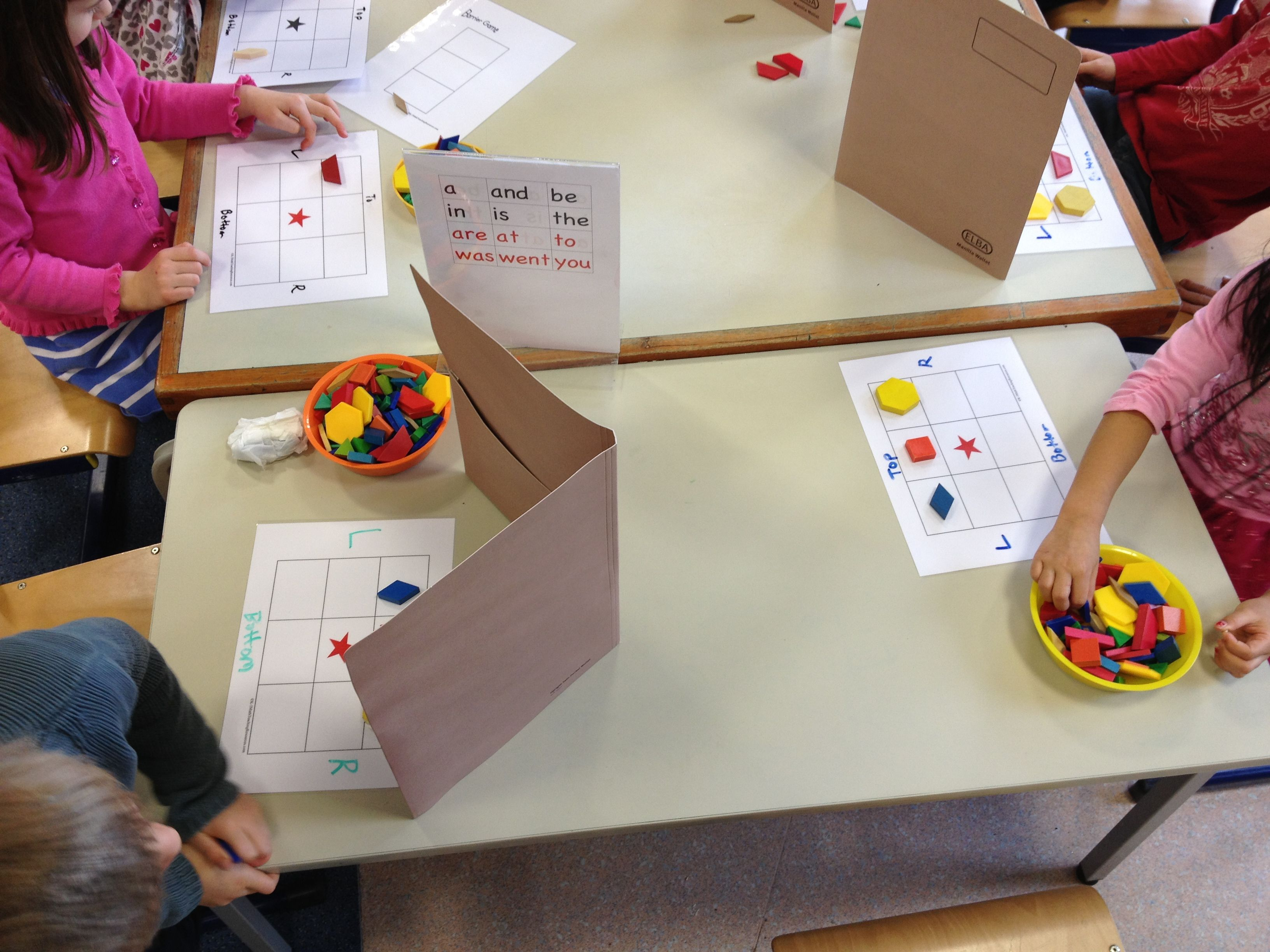 Pattern Block Grid Barrier Math Game With Images