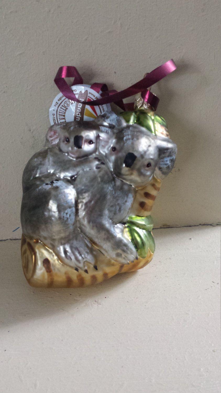 Blown Glass Koala Christmas Tree Ornament Decoration or