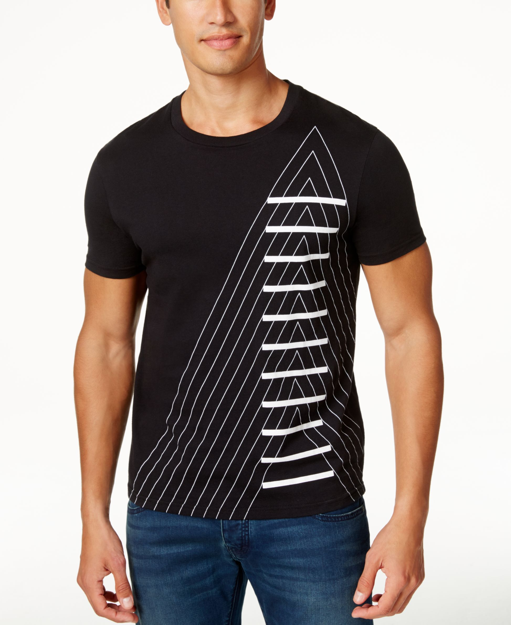 fc37ef42b2 Armani Exchange Men's A-Stacked Graphic-Print T-Shirt | Men's Style ...