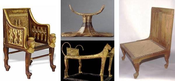 Des chaises, une table et un support   evolution du design ,epoques ...