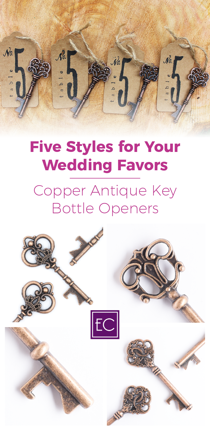 50 Assorted Key Bottle Openers - Antique Copper | Bridal showers ...