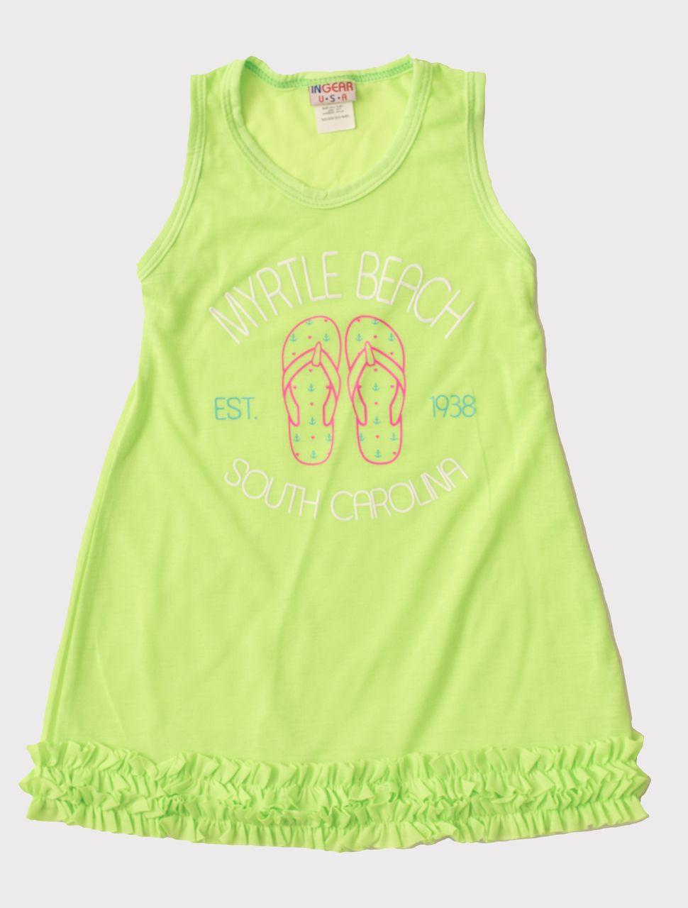 2b937644737 Little Ones · Baby Boy · Beach Playsuit · Eagles Beachwear - Girls MB Flip  Flop Ruffle Dress