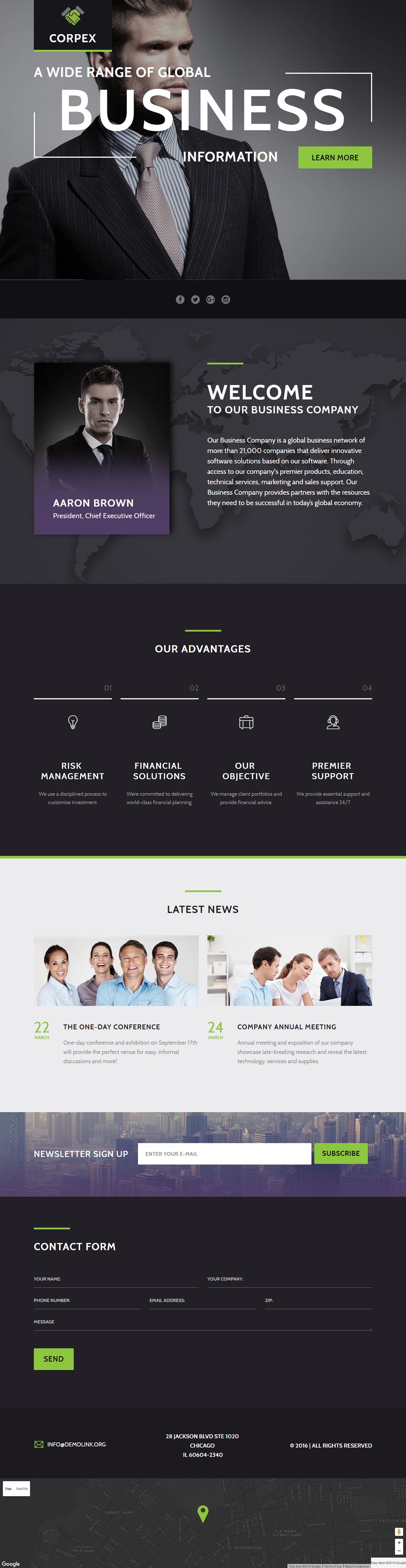 Business Information Landing Page Template on Behance | Landing Page ...