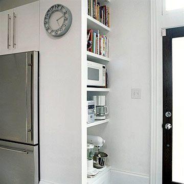 Custom Touches For Small Kitchens Freestanding Fridge Small Kitchen Home