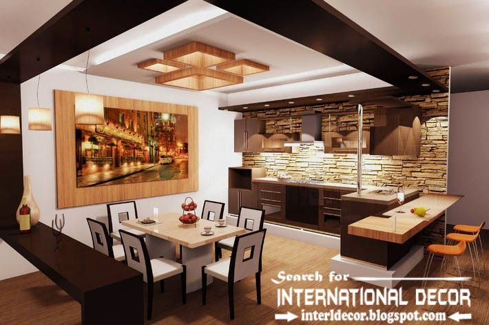 Modern Kitchen Ceiling Designs Ideas Lights Suspended Ceiling For Kitchen